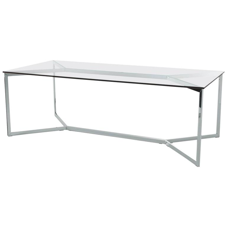 Carlomagno Table by Gallotti and Radice in Transparent or Colored Glass