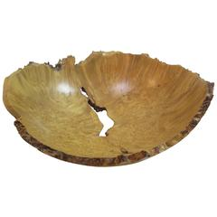 J. Hanson Maple Burl Turned Bowl