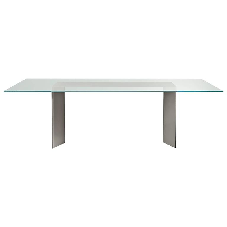 Dolm Table by Gallotti and Radice in Transparent and Lacquered Glass