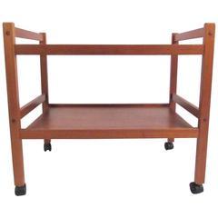 Scandinavian Modern Teak Bar Cart