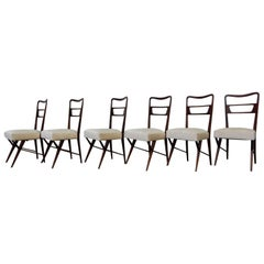 Paolo Buffa Attributed to Set of Six Chairs