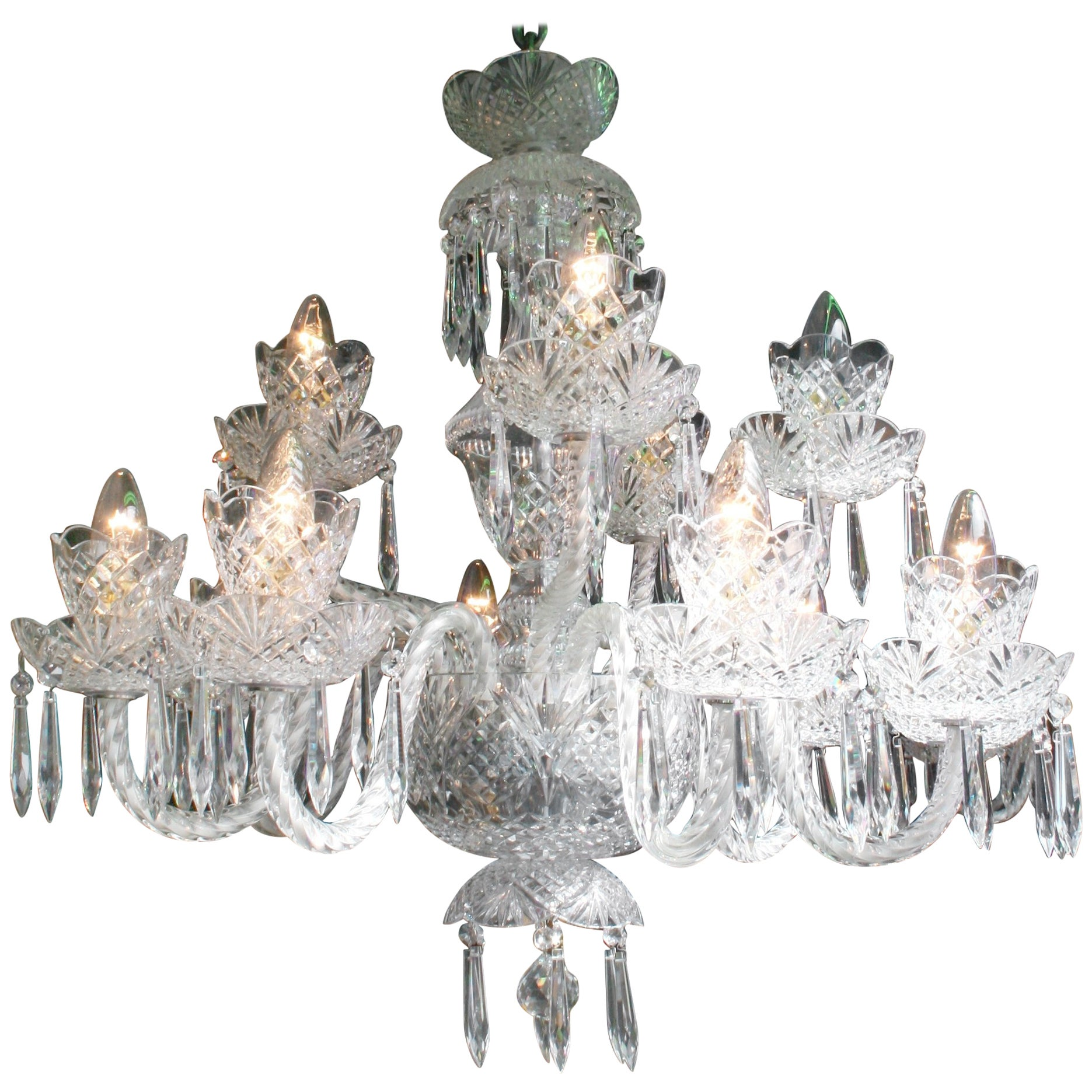 Fine waterford crystal twelve arm chandelier for sale at 1stdibs arubaitofo Choice Image