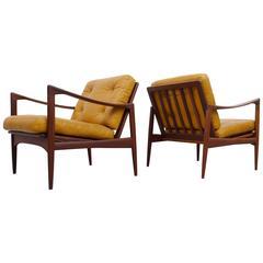 Ib Kofod-Larsen Pair of Easy Chairs Model Kandidaten, 1960s