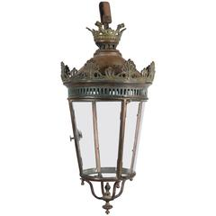 19th Century French Bronze and Copper Lantern
