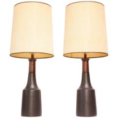 Pair of Tall Martz for Marshall Studios Stoneware Table Lamps
