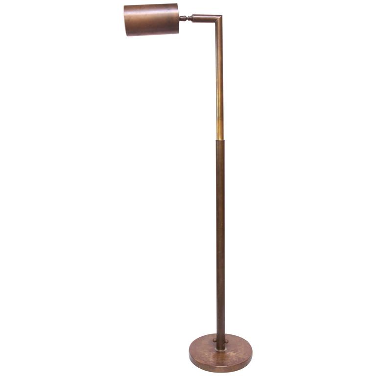 Chapman Patinated Brass Adjustable Floor Lamp