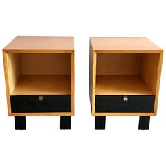 Pair of George Nelson for Herman Miller Nightstands, Mid-Century, 1950s