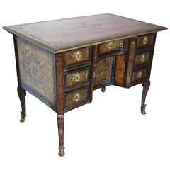 Early 18th Century Writing Desk with Original Leather Top