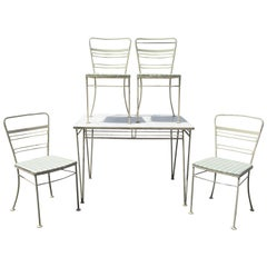 Modernist Wrought Iron Patio Set