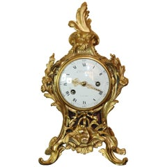 Giltbronze Rococo Mantle Clock