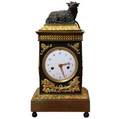 Gilt Bronze Directoire Mantle Clock