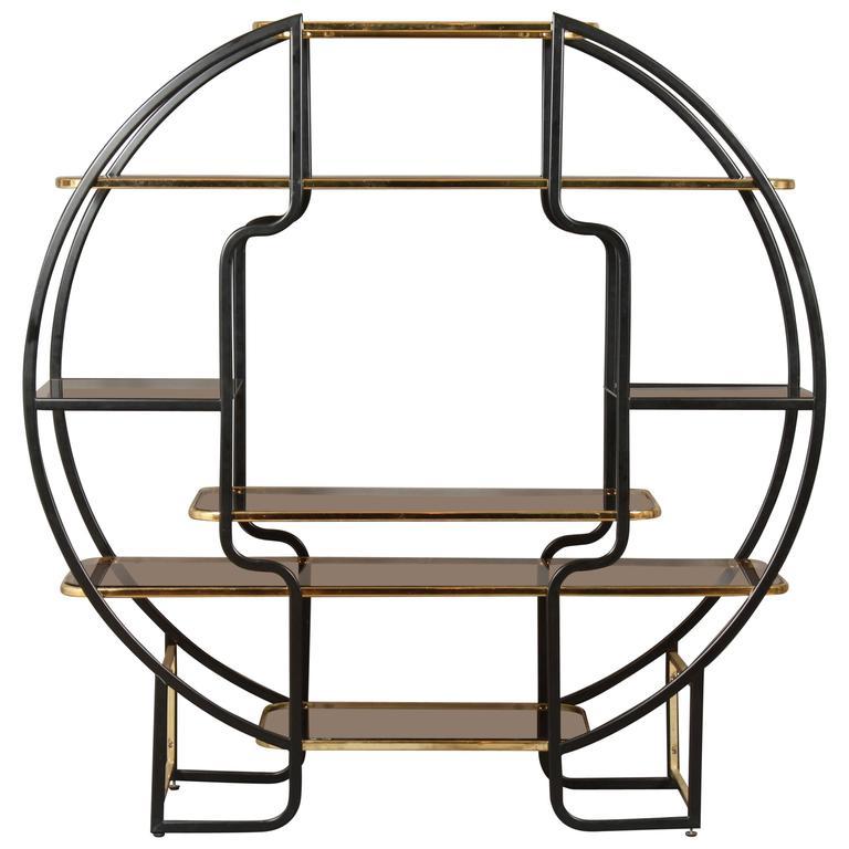 Art Deco Circle Bookcase