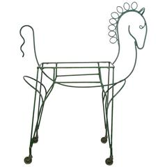 Mid-Century Modern Horse-Form Bar Cart by Frederick Weinberg