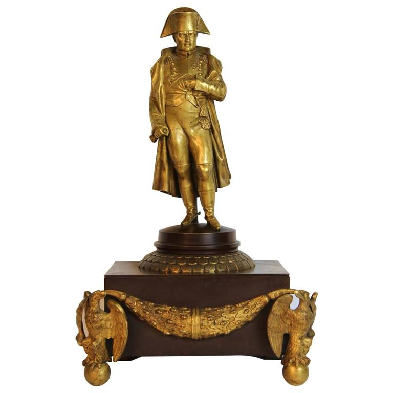 Antique French Empire Napoleon Gilt Bronze Sculpture