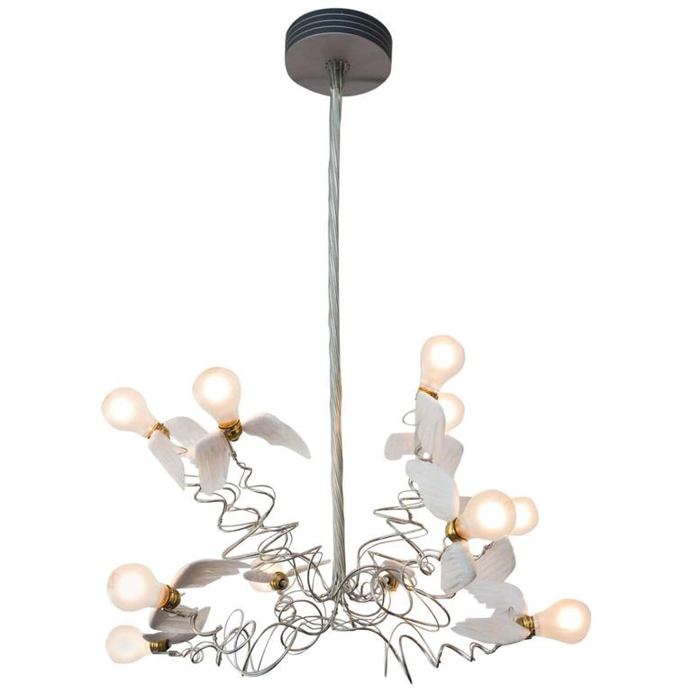 Birdie chandelier by ingo maurer at 1stdibs birdie chandelier by ingo maurer for sale aloadofball Image collections