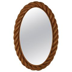 Oval Rope Mirror by Adrien Audoux and Frida Minet
