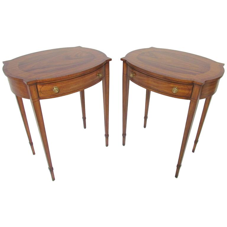 Pair of English Regency Style End Tables by Maitland-Smith
