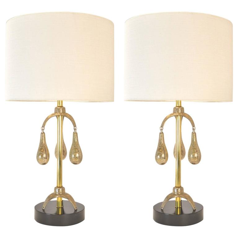 Pair of Mid-Century Modern Indian Lamps