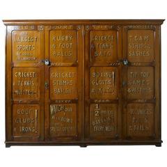 Large Sports Shop Cupboard, Equipment Storage Locker From Briggs Of London
