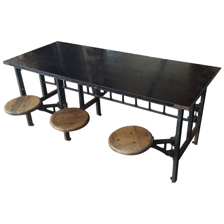vintage industrial swing out table hot girls wallpaper. Black Bedroom Furniture Sets. Home Design Ideas