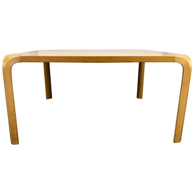 vintage fan leg coffee table by alvar aalto for artek for sale at 1stdibs. Black Bedroom Furniture Sets. Home Design Ideas