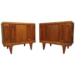 Pair of Mid-Century Modern Nightstands by American of Martinsville