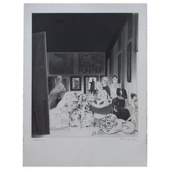 "Richard Hamilton Modern Art Print ""Picasso's Meninas"", 1973"