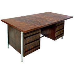 Brazilian Rosewood Executive Desk, circa 1960