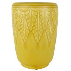 Vintage Rookwood Pottery Vase with Matte Yellow Glaze