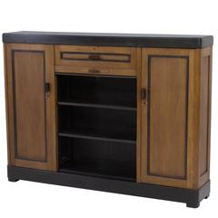 Rare Dutch Art Deco Haagse School Bookcase by Frits Spanjaard for L.O.V.