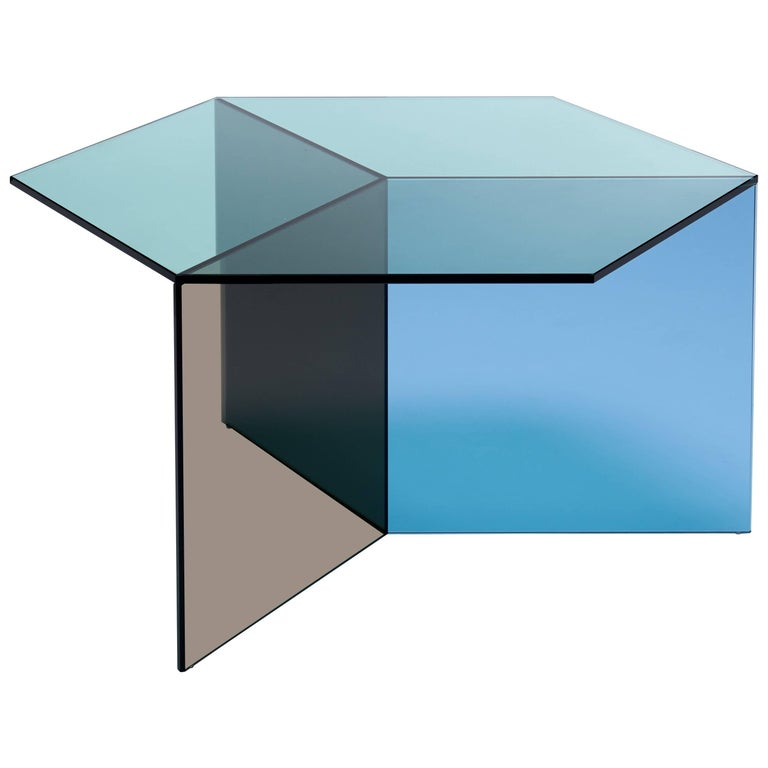 Isom Square Multicolor Side Table by Sebastian Scherer for Neo Craft For Sale