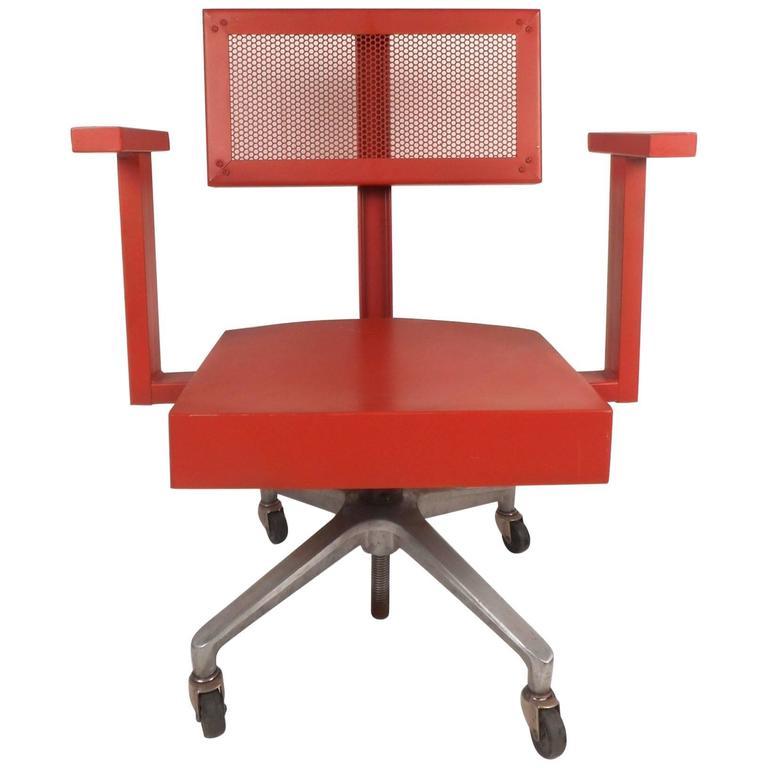 Unique Vintage Industrial Swivel Desk Chair For Sale At