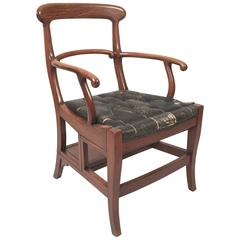 Metamorphic Chinese Export Chair and Library Steps