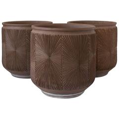 Single Robert Maxwell & David Cressey Earthgender Monumental Cylindrical Planter