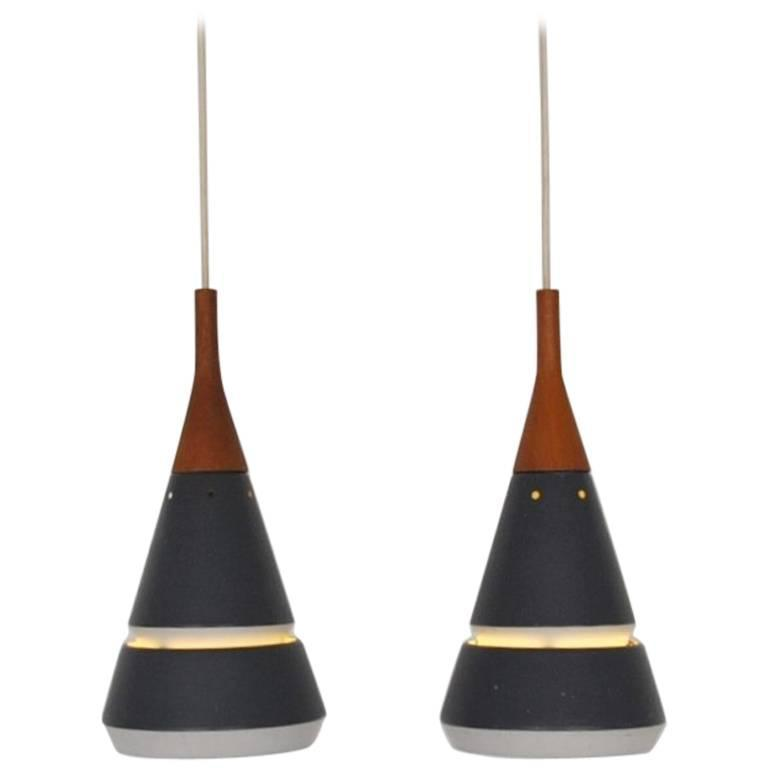 Set of Two Handsome Pendant Lights by Philips. Netherlands, 1960s
