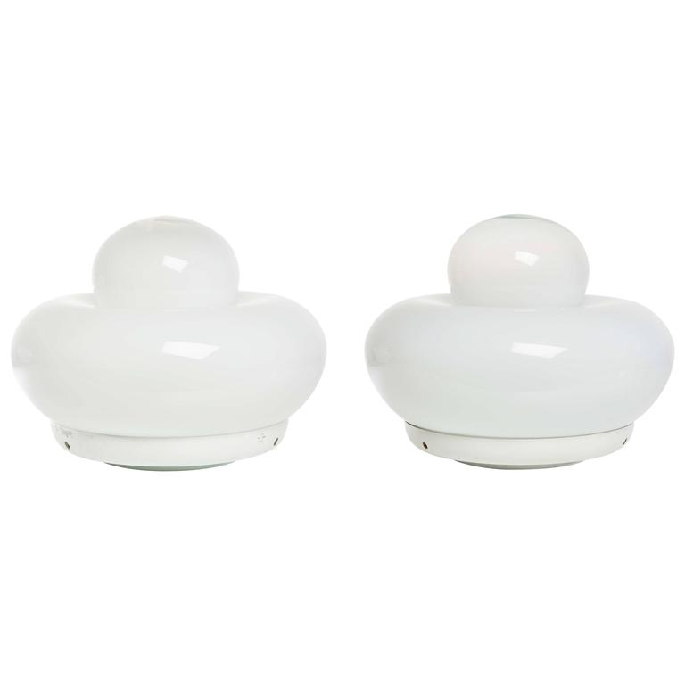 """Unique Pair of """"Electra"""" Table Lamps by Giuliana Gramigna for Artemide For Sale"""