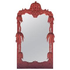 """Rare Large Vintage """"Shangri-La"""" Mirror in the Style of William """"Billy"""" Haines"""