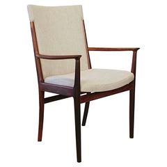 Vintage Danish Rosewood and Upholstered Armchair