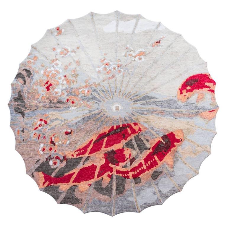 Handgefertigter Teppich mit Koi-Muster von Vito Nesta 1