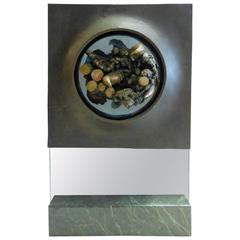 Abstract Bronze, Glass and Marble Sculpture by Dean Meeker