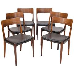 Set of Six Danish Rosewood Dining Chairs, Hornslet Møbelfabrik