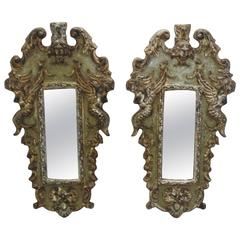 French Carved Wooden Accent Wall Mirrors