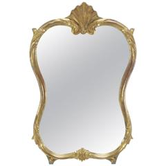 Late 19th Century, French Gilded Wood Mirror