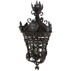 20th Century Spanish Cast Iron Light Fixture