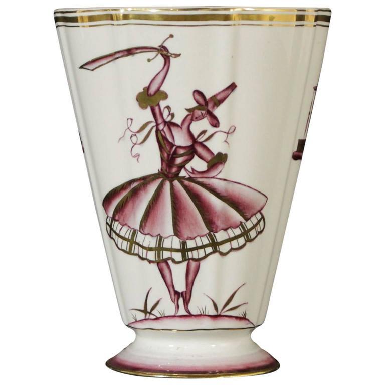 Ceramic Vase by Guido Andlovitz for Lavenia, Italy, 1930s