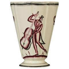 Ceramic Vase by Guido Andlovitz for Lavenia, Italy, 1930s