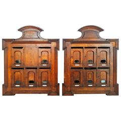 Rare French Wall Unit Mail Boxes, Paris, 1900s