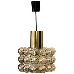 Beautiful Pendant with Bubble Glass by Helena Tynell for Limburg