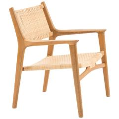 Easy Chair in Oak by Hans J. Wegner for Johannes Hansen