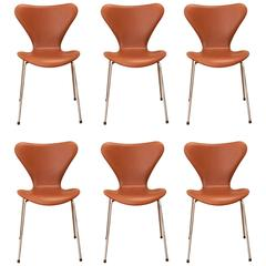 Six Pieces of Arne Jacobsen 3107 Chairs